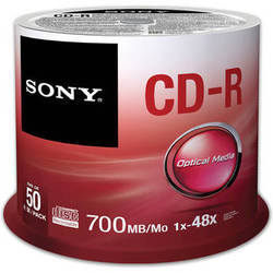 Sony CD-R 700 MB Recordable Discs (Spindle Pack of 50)