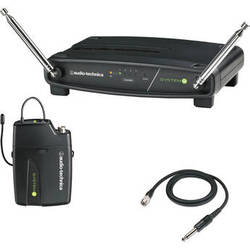 Audio-Technica System 9 VHF Wireless Unipak System with AT-GcW Guitar/Instrument Input Cable