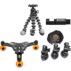 Cinetics Gorillapod Mini Tripod, Head, Suction Cup Mount, miniSkates Pro Kit