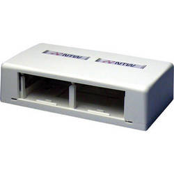 NTW 3UN-SB2W UniMedia Surface Mount Box with 2 Outlets