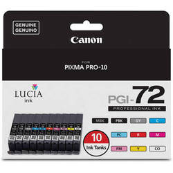 Canon LUCIA PGI-72 10-Color Ink Tank Value Pack