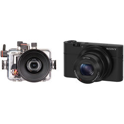 Ikelite 6116.10 Compact Digital Underwater Housing Kit with Sony Cyber-shot DSC-RX100 Digital Camera