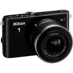 Nikon 1 J3 Mirrorless Digital Camera with 10-30mm Lens (Black)