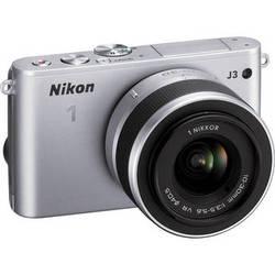 Nikon 1 J3 Mirrorless Digital Camera with 10-30mm Lens (Silver)