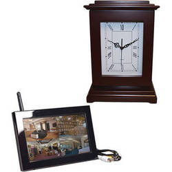 KJB Security Products C1575 Zone Shield Wireless Rectangle Clock with QUAD LCD Receiver