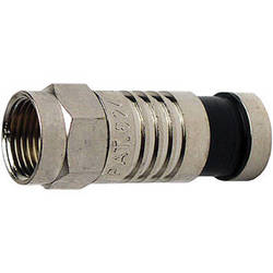 Platinum Tools F-Type Nickel SealSmart Coaxial Compression RG59 Connector (10 Pieces Clamshell)