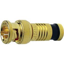 Platinum Tools BNC-Type Gold SealSmart Coaxial RG6 Quad Connector (25 Pieces Bulk Package)