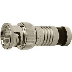 Platinum Tools BNC-Type Nickel SealSmart Coaxial Compression RG6 Connector (25 Pieces Bulk Packaging)