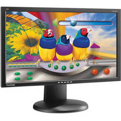 "ViewSonic VG2428WM-LED Widescreen 24"" LED Backlit LCD Monitor"