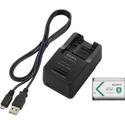 Sony Battery and Charger Kit with NP-BX1 Battery