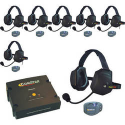 Eartec ComStar Com-Center Intercom Kit with 7 Beltpacks & 7 Xtreme Headsets