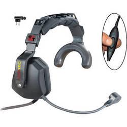 Eartec Ultra Single Headset with Inline PTT & Motorola 2-Pin Connector
