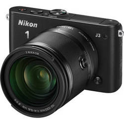 Nikon 1 J3 Mirrorless Digital Camera with 10-100mm Lens (Black)
