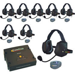 Eartec ComStar Com-Center Intercom with 8 Belt-Pack & 8 Xtreme Headset Kit