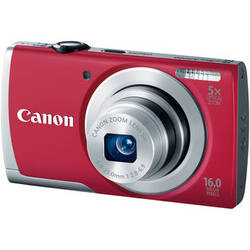 Canon PowerShot A2500 Digital Camera (Red)
