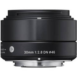 Sigma 30mm f/2.8 DN Lens for Micro Four Thirds Cameras (Black)