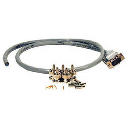 Comprehensive HR Pro VGA Male to Bare Leads Cable with BNC Install Kit (100')
