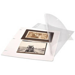 Print File Polyester Page Protectors with Paper Inserts (25-Pack)