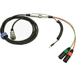 Ambient Recording HBN10Y10-35 Hirose 10-Pin Male to Hirose 10-Pin Male Breakaway Cable with Y Cable (13.1')