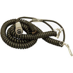 Ambient Recording HBS10-7 Hirose 10-Pin Male to 7-Pin XLR Male Coiled Breakaway Cable (4.6 to 16.4')