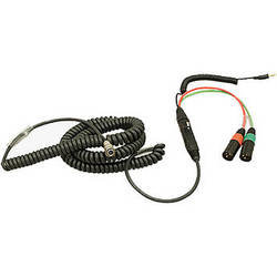 Ambient Recording HBS12HY7-35 7-Pin XLR Female to Dual 3-Pin XLR Male Coiled Breakaway Cable with Y Cable (4.6 to 16.4')