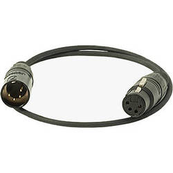 Ambient Recording AK-XLR4 4-Pin XLR Male to 4-Pin XLR Female Power Supply Cable (1.64')