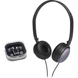 Coby 2-in-1 Combo DJ Style Stereo Headphones & Earphones (Black)