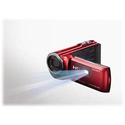 Sony 16GB HDR-PJ380 60p HD Handycam Camcorder with Projector (Red)