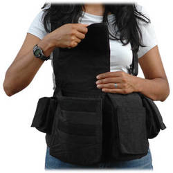 Newswear Womens Digital Chestvest (Black)