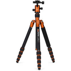MeFOTO RoadTrip Aluminum Travel Tripod Kit (Orange)