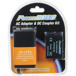 Power2000 AC-LPE8 AC Adapter and DC Coupler Kit