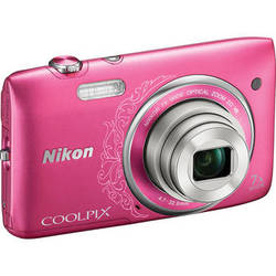 Nikon COOLPIX S3500 Digital Camera (Decorative Pink)