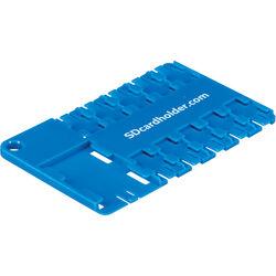 SD Card Holder microSD 10 Slot Cardholder (Blue)