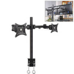 """Halter Dual-Monitor Desk Clamp Stand for 27"""" Displays"""