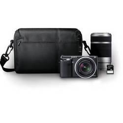 Sony Alpha NEX-F3 Mirrorless Digital Camera with 18-55mm f/3.5-5.6 and 55-210mm f/4.5-6.3 Lenses Bundle (Black)