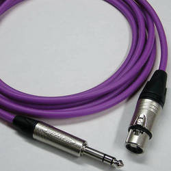Canare Starquad XLRF-TRSM Cable (Purple, 25')