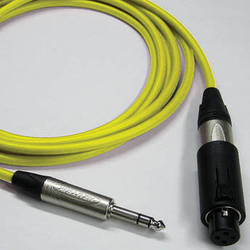 Canare Starquad Unisex XLR-TRSM Cable (Yellow, 35')
