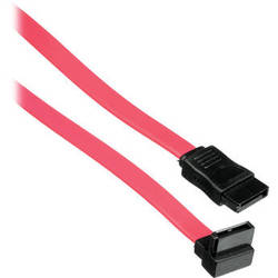 "Pearstone 18"" 7-pin Internal Straight to 90-Degree Serial ATA Cable (Red)"