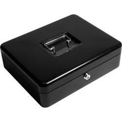 """Barska 12"""" Cash Box with Key Lock and Coin Tray (Black)"""