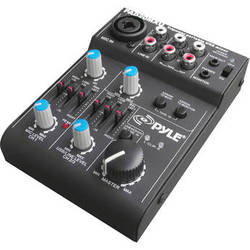 Pyle Pro 5-Channel Compact Audio Mixer with USB Interface