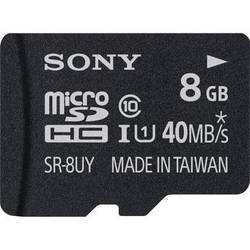 Sony 8GB microSDHC Class 10 UHS-1 Memory Card with microSD Adapter