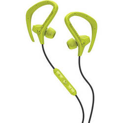 Skullcandy Chops Sport Earbuds (Hot Lime Green and Black)