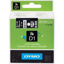 """Dymo Standard D1 Tape (White on Black, 1.0"""" x 23')"""