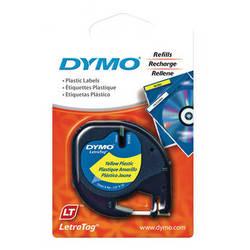 "Dymo Plastic LetraTag Tape (Black on Yellow, 1/2"" x 13')"