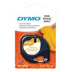 """Dymo Fabric Iron-On LetraTag Tape (Black on White, 1/2"""" x 6.5')"""