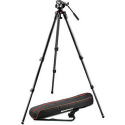Manfrotto MVH500A Half Ball Fluid Head & 535 Tripod with Carrying Bag