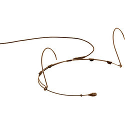 DPA Microphones d:fine 4066 Omnidirectional Headset Microphone with a Hardwired 3-Pin LEMO Connector for Sennheiser Wireless Systems (Brown)