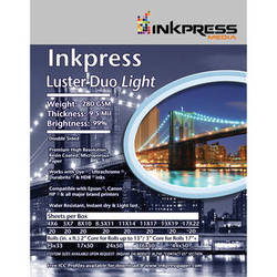 "Inkpress Media Luster Duo Light Double-Sided Photo Inkjet Paper (10"" x 50' Roll)"