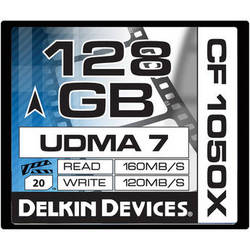 Delkin Devices 128GB CF 1050X UDMA 7 Cinema Memory Card