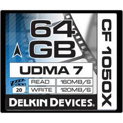 Delkin Devices 64GB CF 1050X UDMA 7 Cinema Memory Card